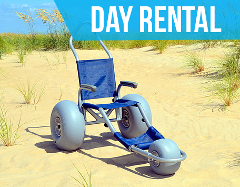 (Day Rental) Sandrider Beach Wheelchair