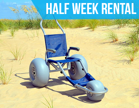 (Half Week Rental) Sandrider Beach Wheelchair