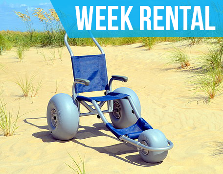 (Week Rental) Sandrider Beach Wheelchair