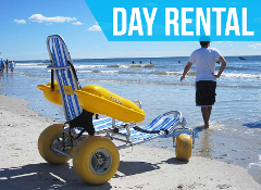 (Day Rental) Water Wheels Floating Beach Wheel Chair