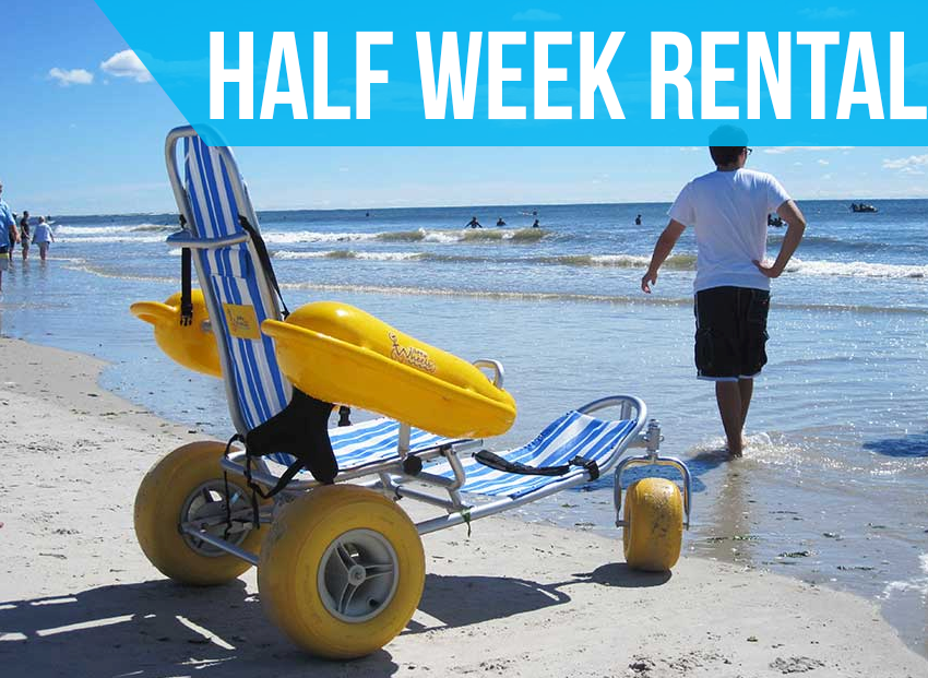 (Half Week Rental) Water Wheels Floating Beach Wheel Chair