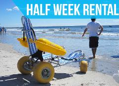 (Half Week Rental) Water Wheels Floating Beach Wheel Chair