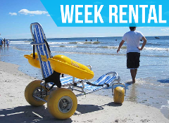(Week Rental) Water Wheels Floating Beach Wheel Chair