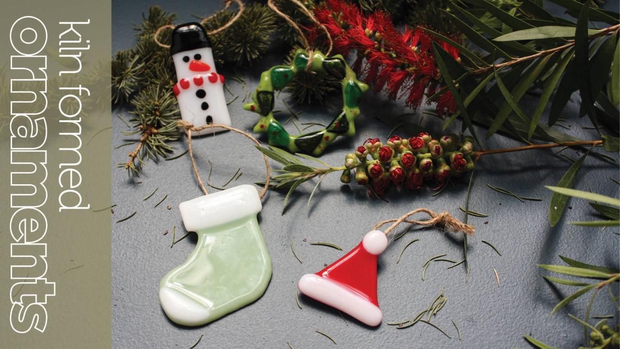 Kiln formed Ornaments