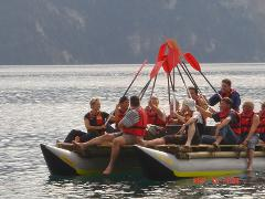 Team building full day: Catamaran raft assembly