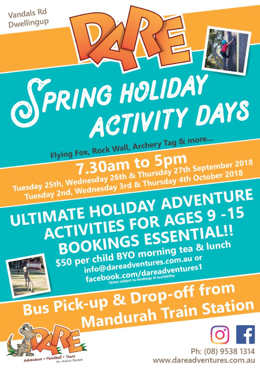 Spring Holiday Activity Days