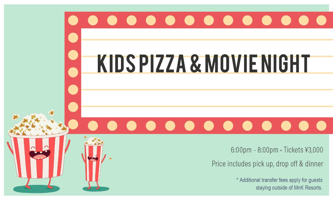 Kids Only Pizza and Movie Night