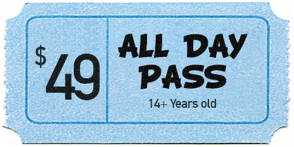 ALL DAY PASS (14+ Years Old / Adult) -  REDCLIFFE