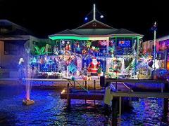 Sunset & Christmas lights cruise