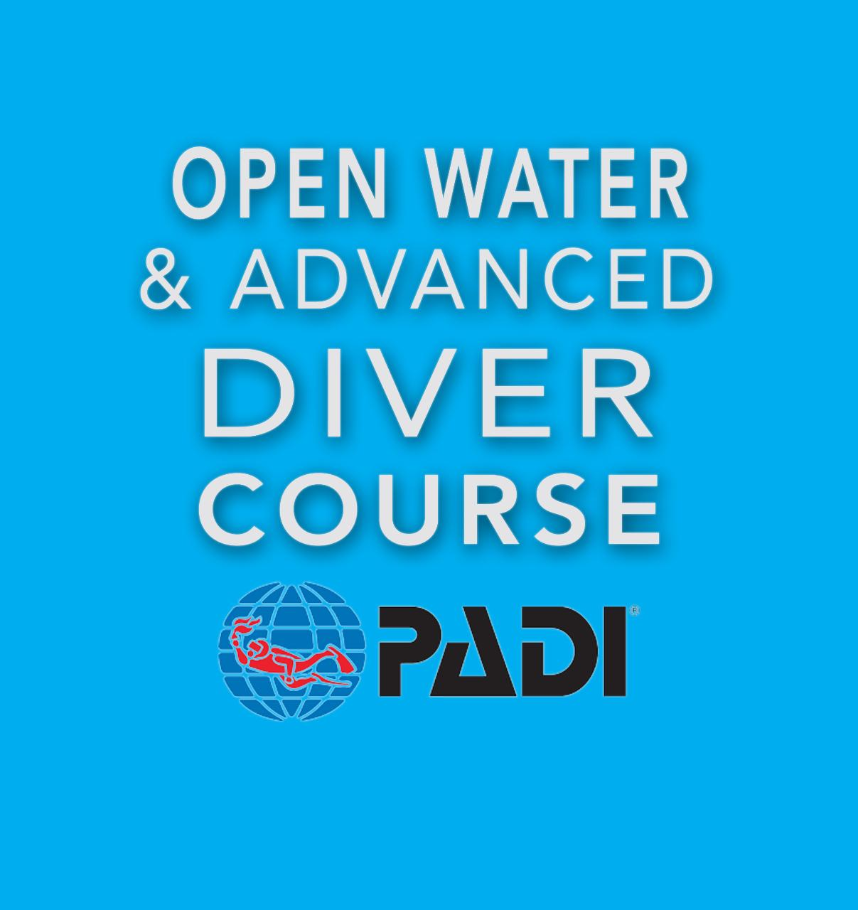 PADI Open Water Diver & Advanced Open Water with Enriched Air