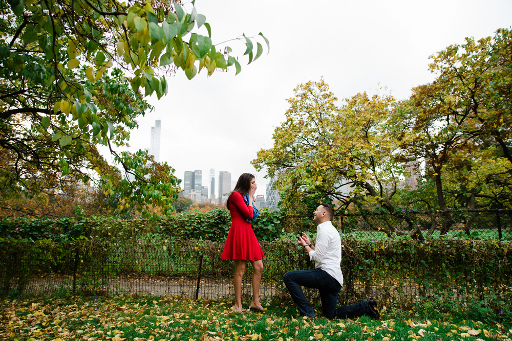I Heart New York Surprise Proposal Photo Shoot