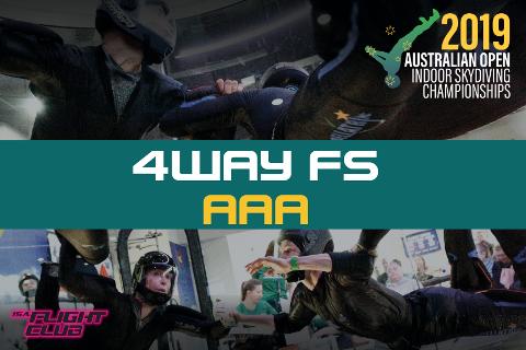 Australian Open 2019 - 4-way FS AAA - EARLY BIRD $50 OFF