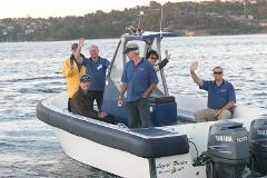 Skippered Motor Boat Charter Legal Tender for up to 18 passengers