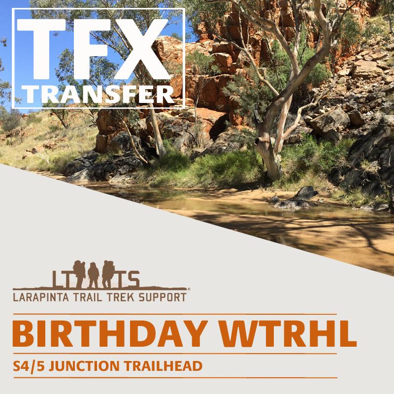 MORNING DROP OFF: Larapinta Trail Transfer to Birthday Waterhole