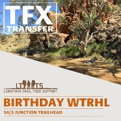 AFTERNOON PICK UP: Larapinta Trail Transfer from Birthday Waterhole