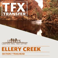 MORNING DROP OFF: Larapinta Trail Transfer to Ellery Creek