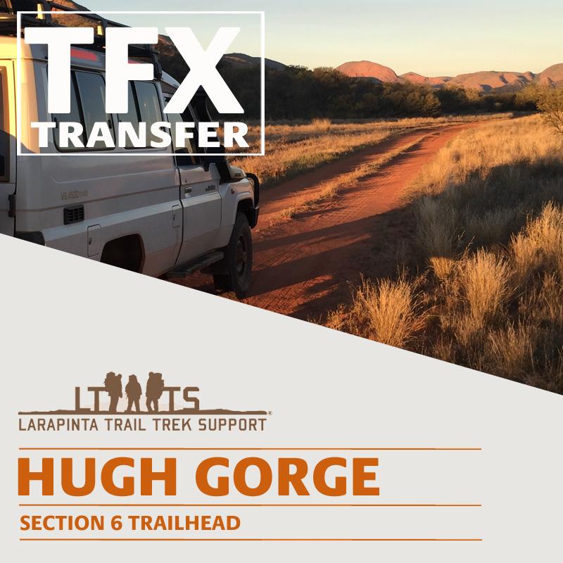 MORNING DROP OFF: Larapinta Trail Transfer to Hugh Gorge