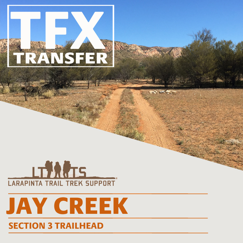 AFTERNOON PICK UP:  Larapinta Trail Transfer from Jay Creek