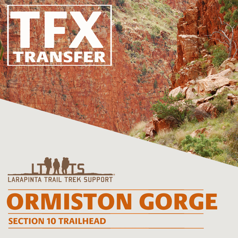 MIDDAY PICK UP: Larapinta Trail Transfer from Ormiston Gorge