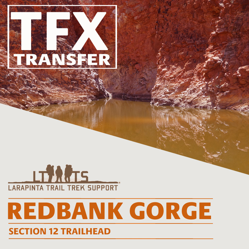 MORNING DROP OFF: Larapinta Trail Transfer to Redbank Gorge