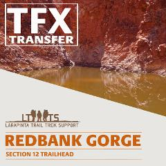 AM DROP OFF: Larapinta Trail Transfer to Redbank Gorge