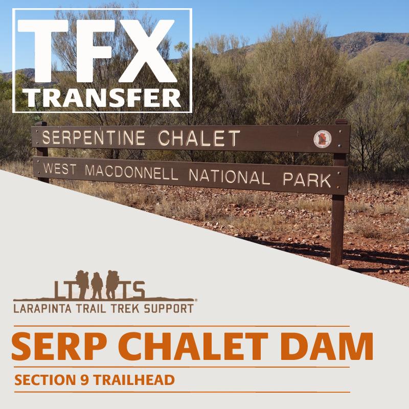 MORNING DROP OFF: Larapinta Trail Transfer to Serpentine Chalet Dam