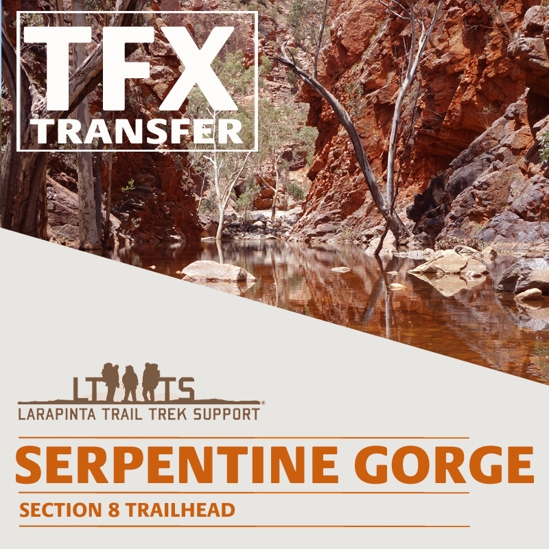 MORNING DROP OFF: Larapinta Trail Transfer to Serpentine Gorge
