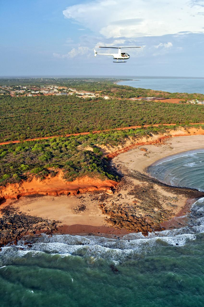 45 minute Broome Creek and Coast Scenic Helicopter Flight