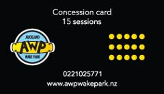 15 Single Session Card for Adults