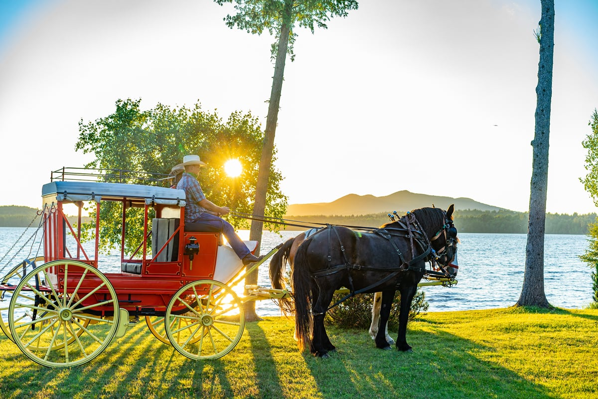 Private Sunset Stagecoach Ride & Great Camp Dinner Experience