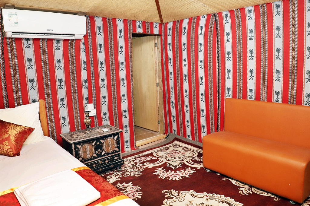 Overnight Camping - Deluxe Tent with attached toilet