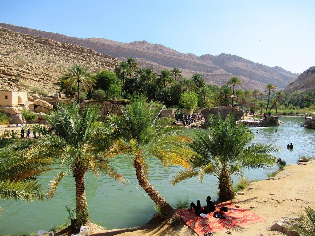 Wadi Bani Khaled with Omani traditional lunch