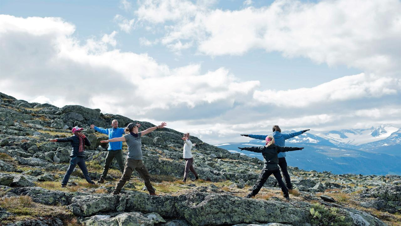 Laponia Retreat Yoga Hike