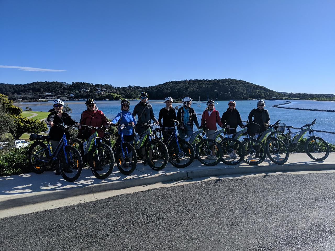 SMALL GROUP FULLY GUIDED E-BIKE TOUR -  Full Day - Off the beaten track -  Pub n Grub Hinterland Tour Narooma to Tilba including lunch at The Dromedary Hotel