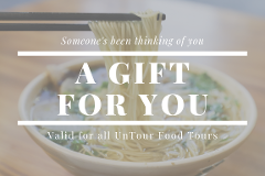 $100 UnTour Food Tours Gift Card
