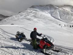 5-Hour THRILL SEEKERS COMBO - GUIDED 3-HOUR HIGH ADVENTURE SNOWMOBILING PLUS THE 2-HOUR TOP OF THE ROCKIES ZIPLINE.  LUNCH AND GRATUITIES ARE INCLUDED