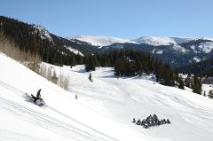 WHITE MOUNTAIN, TWO-HOUR PERFORMANCE SNOWMOBILE TOUR, Guide Gratuity is not included in the Tour Price.  Checkin at 6492 Highway 91, Leadville, 80461.  Arrive 30 minutes prior to tour time.