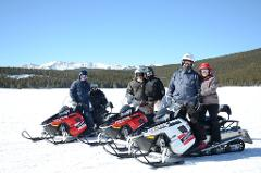 WHITE MOUNTAIN TWO-HOUR PROSPECTOR FAMILY SNOWMOBILE TOUR, Guide Gratuities are not included in the tour price.