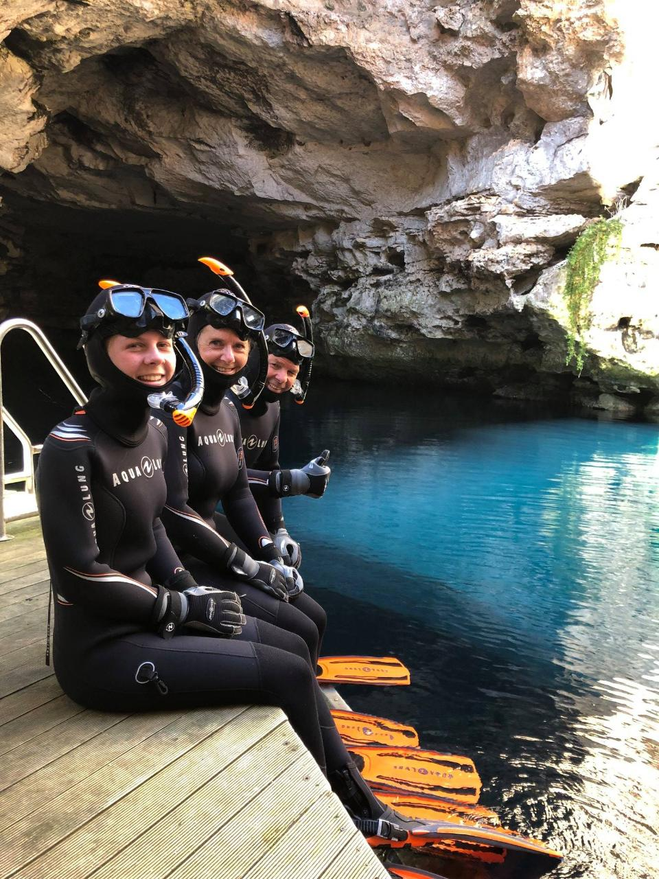 Snorkelling at the Sinkhole