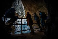 Johnston Canyon Icewalk at Night