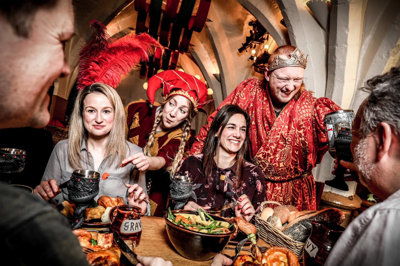 Feast At The Medieval Banquet London