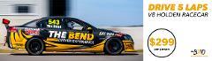 Drive V8 Holden Racecar - 5 Laps