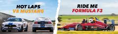Formula 3 and V8 Mustang Hot Lap Experience Combo