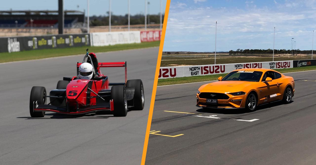 Formula Toyota and V8 Mustang Hot Lap Experience Combo