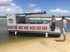 Full Day: 12 Person Standard BBQ Pontoon Boat - With Toilet