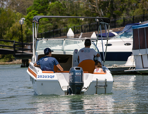 Half Day: 60HP Haines Hunter Half Cabin Boat Boat License Required