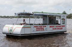 Half Day: 12 Person XL Luxury Pizza / BBQ Boat Pontoon - With Toilet