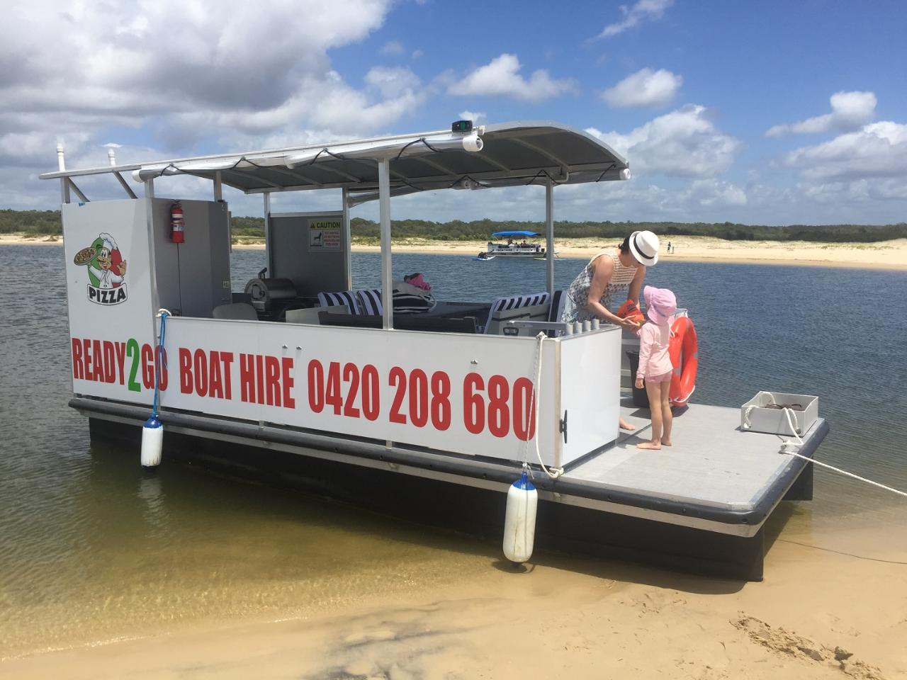 Half Day: 8 Person Pizza/BBQ Pontoon Boat - With Toilet
