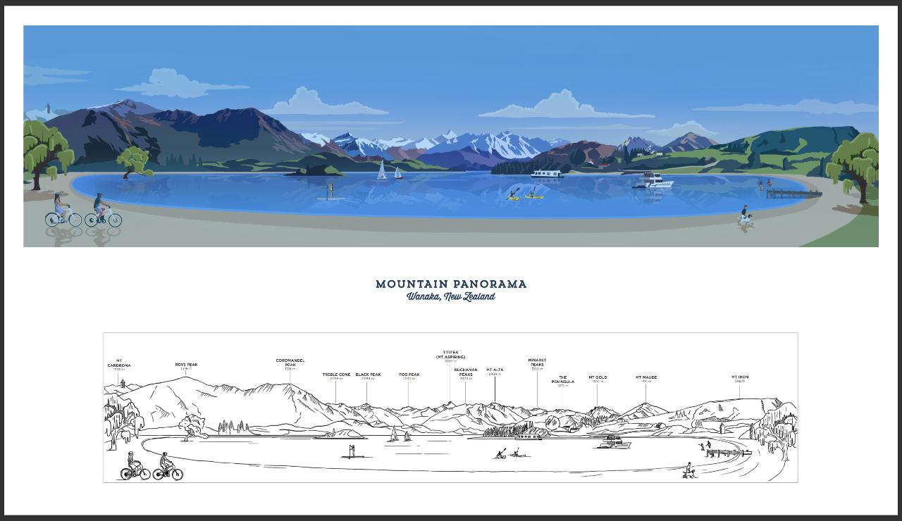The Wanaka Panorama Fine Art Print