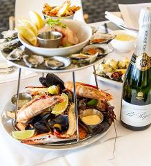 Indulgent Seafood Platter for two and bottle of Pol Roger French Champagne